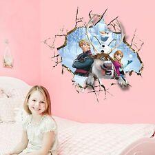 Frozen 3D Princess Elsa Mural Wall Sticker Decal Kids Nursery Room Decor Vinyl