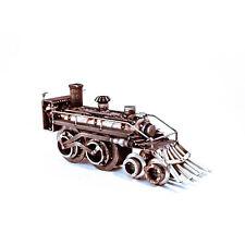 Sugarpost Scrap Metal Art Gnome Be Gone Crazy Train Metal Sculpture Item #1090