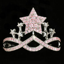 0.37Ct Natural Pink Diamond 10K White Gold Ring Color Enhanced RPG305-10-7-1