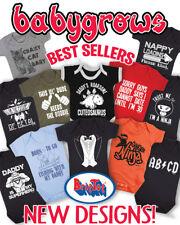 Funny Boys Girls BABY GROW Vest Newborn Bodysuit Sleepsuit Baby Shower Gift