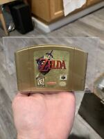 Rare! Legend Zelda Ocarina Time Collector's Edition Nintendo N64 Authentic Gold