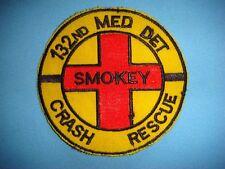 KOREA WAR  PATCH, US 132nd MEDICAL  DETACHMENT SMOKEY CRASH RESCUE