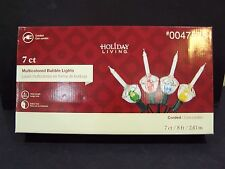 CHRISTMAS TREE BUBBLE LIGHTS STRING BULB SET 7  NEW C7 SIZE BULBS MULTI COLORED