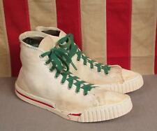 Vintage 1950s Skips Canvas High-Top Basketball Sneakers Shoes Sz.9 Chucks Rare!