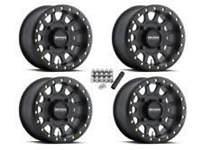 "Method 401 Beadlock ATV 15"" Wheels Rims Black 15x7 4+3 Polaris Sportsman/Ranger"