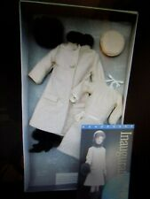 sable trimmed jackie kennedy franklin mint doll ensemble with coa nrfb