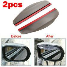 2PCS Universal Car Rear View Side Mirror Rain Board Sun Visor Shade Shield Black