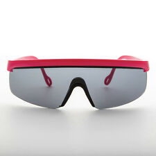 80s Sport Shield Sunglasses Made in France Pink - Roland