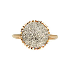 14K Rose Gold Diamond Pave Engagement Ring