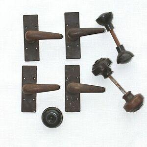 Bakelite 2 pairs door handles 2 pairs knobs Light switch Vintage  Home decor G1