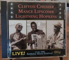 Clifton Chenier Mance Lipscomb Lightning Hopkins Live Berkeley Blues Festival CD