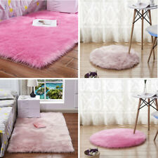 Faux Sheepskin Fur Rug Round Rectangle Chair Sofa Pad Cushion Cover Soft Carpet