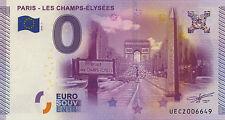 75008 PARIS CHAMPS ÉLYSÉES BILLET 2015 ZERO 0 € EURO PAS BANKNOTE JETON MEDALS