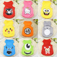 Cute Pet Dog Clothes Shirt Vest Cartoon Cat Puppy Summer Apparel Costume XS-XXL