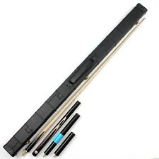 FreeP&P 3/4 Handmade Classic Ebony Snooker Pool Cue Set Weichster Case Extension