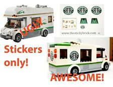 Custom stickers Starbucks LEGO 60057 RV Camper alternate build