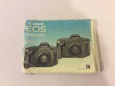 Genuine Original CANON EOS 620 650 FILM CAMERA INSTRUCTIONS MANUAL