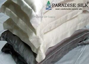 2Pcs Silk Pillowcase 16.5MM Pure Silk Mock Oxford Pillow Cases