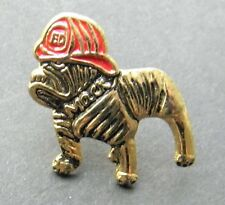 FIRE FIGHTER FIRE SERVICE DOG MACK LAPEL PIN BADGE 7/8 INCH