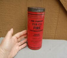 The Famous Fir-Ex Fire Extinguisher Freeport IL Fir-EX Chemical Throw Can Full