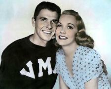 "RONALD REAGAN JANE WYMAN BROTHER RAT 1938 ACTORS 8x10"" HAND COLOR TINTED PHOTO"