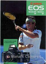 Canon EOS 1000FN & 1000N fotocamera e obiettivo opuscolo dal 1992. più manuali elencati