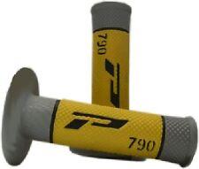 PRO GRIP 790 YELLOW/GREY MX GRIPS SUZUKI 85 125 250 450 RM RMZ DR DRZ TS