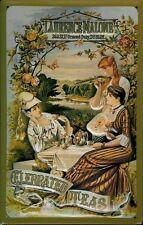 Laurence Malone Tea Blechschild Schild 3D geprägt gewölbt Tin Sign 20 x 30 cm