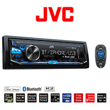 JVC KD-X341BT Single DIN Bluetooth USB Aux Digital Media Car Stereo (No CD)