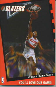 Portland Trailblazers 1997-98 Official NBA Media Guide-NEW