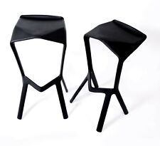 Miura Bar Stool, Black, Designed By Konstantin Grcic, Pack Of Two, Black