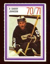 1970-71 ESSO POWER PLAYERS NHL 8 DANNY JOHNSON ENM VANCUVER CANUCKS UNUSED STAMP