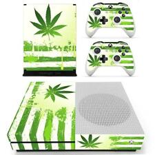 Xbox one S Slim Console Skin Cannabis Marijuana Weed Vinyl Stickers Decals Cover