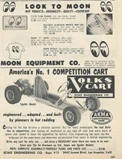 1959 Volks Cart Go Kart Ad/ Moon Equipment Ad