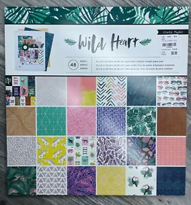 American Crafts Crate Paper WILD HEART 12x12 Designer Paper Pad scrapbooking