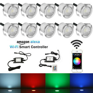 Alexa Wifi Smart Controller Timer 30mm LED Step Decking Recessed Stair Light Kit