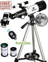 Gskyer Telescope Travel Scope 70mm Aperture 400mm AZ Mount Astronomical Refrac