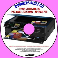 EPSON PX730WD TX730WD ARTISAN 730 PRINTER WASTE INK PAD SATURATED RESET FIX CD