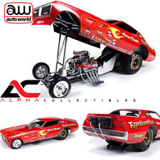 AUTOWORLD AW1118 1:18 1971 GENE SNOW RAMBUNCTIOUS DODGE CHARGER NHRA FUNNY CAR