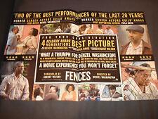 FENCES 2017 Oscar ad for Best Picture with Denzel Washington, Viola Davis