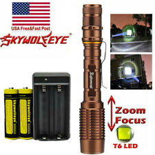 350000LM  LED Flashlight Zoomable Rechargeable Torch Battery & Charger