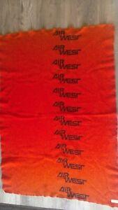 vintage Air West 1960s?  Pendleton Wool BLANKET throw 100% Virgin Wool