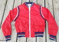 Vintage 80s Campus Pro Action Nylon Red White & Blue Jacket Adult Sz 42