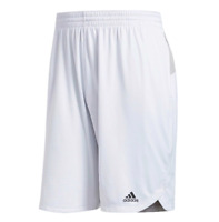 Adidas Shorts Mens Small White with Gray Authentic Climalite Axis Knit 9 Inch