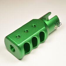 Ruger 10/22 Tanker Muzzle Brake Slip on-Set Screw Style Aluminum Green  .22LR