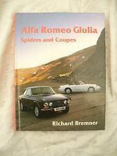 RICHARD BREMNER H/B BOOK ALFA ROMEO GIULIA SPIDERS AND COUPES near mint / 1992