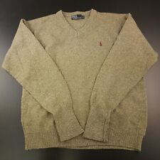 Polo Ralph Lauren Mens Vintage Jumper LARGE Wool Cotton Pullover Sweater Knit