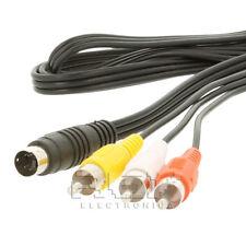 Cable Adaptador S-Video 4 Pines SVIDEO macho a 3RCA AV macho 1.5 m v189