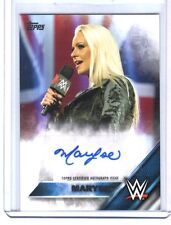 WWE Maryse SD 2016 Topps Then Now Authentic Autograph Card SN 63 of 99