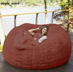 Giant Bean Bag Bed Slipcover Case Floor Seat Couch Futon Lazy Sofa Recliner Coat